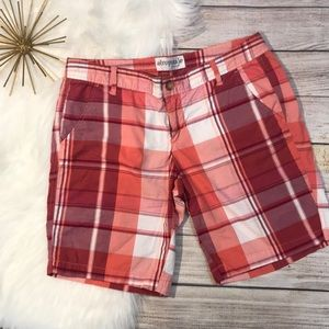 Aeropostale plaid shorts size 9/10